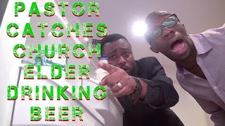 Pastor Catches Church Elder Drinking Beer (Clifford Owusu)
