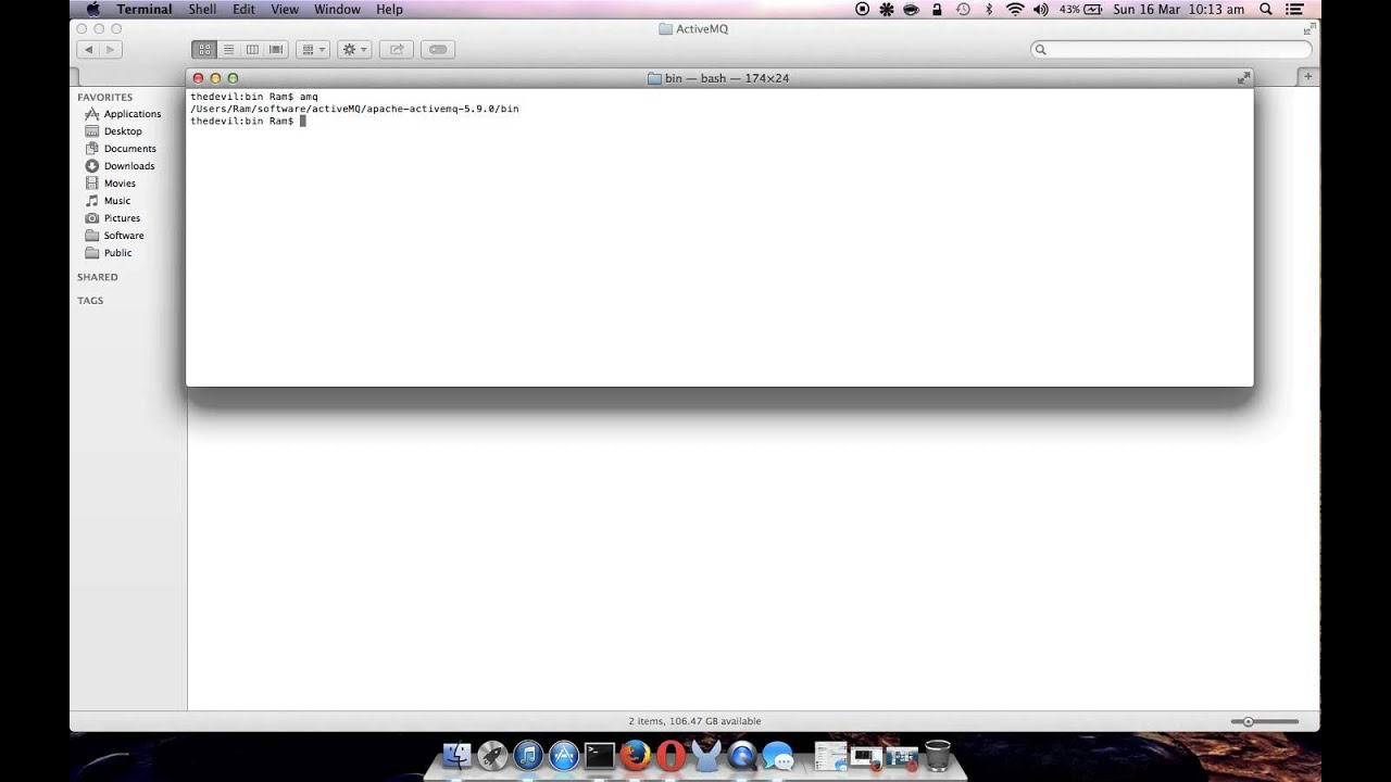 How to start ActiveMQ on MAC and access admin screen