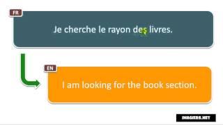 Frasi in francese # Je cherche le rayon des livres