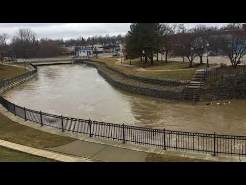 High water on the River Raisin