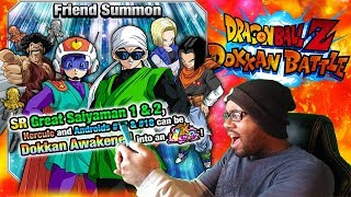 NEW LR GREAT SAIYAMAN 1 & 2 SUMMONS  Part 1 LIVE GLOBAL DOKKAN BATTLE!