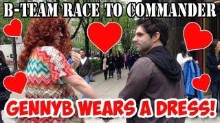 generikb wears a dress b team race to commander humiliation challenge