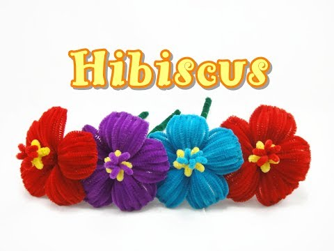 Pipe Cleaner Craft - Hibiscus Flower