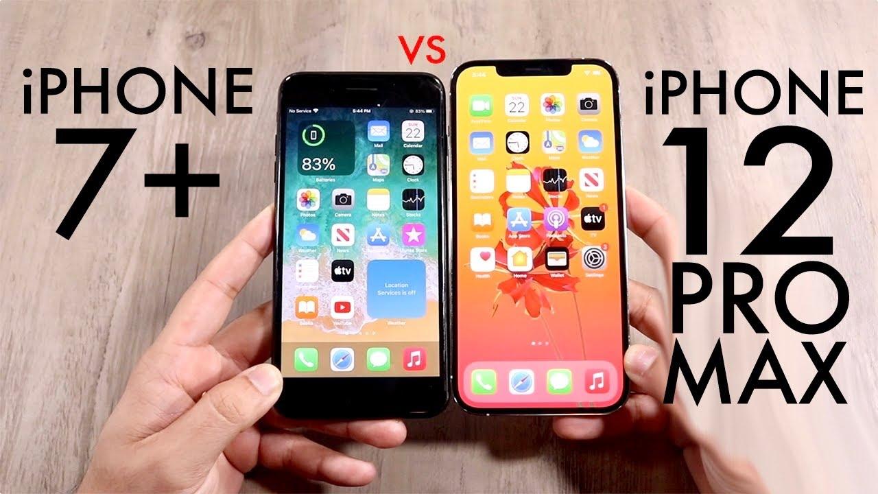 Iphone 12 Pro Max Vs Iphone 7 Plus Comparison Review Youtube