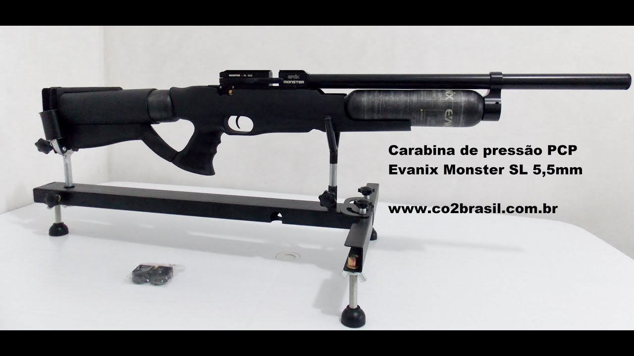 Carabina de Pressão PCP Evanix Monster SL 5,5mm www