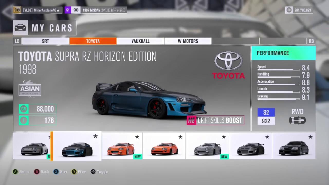 Forza horizon 3 billionaire garage just bought 30 toyota for Credit garage auto