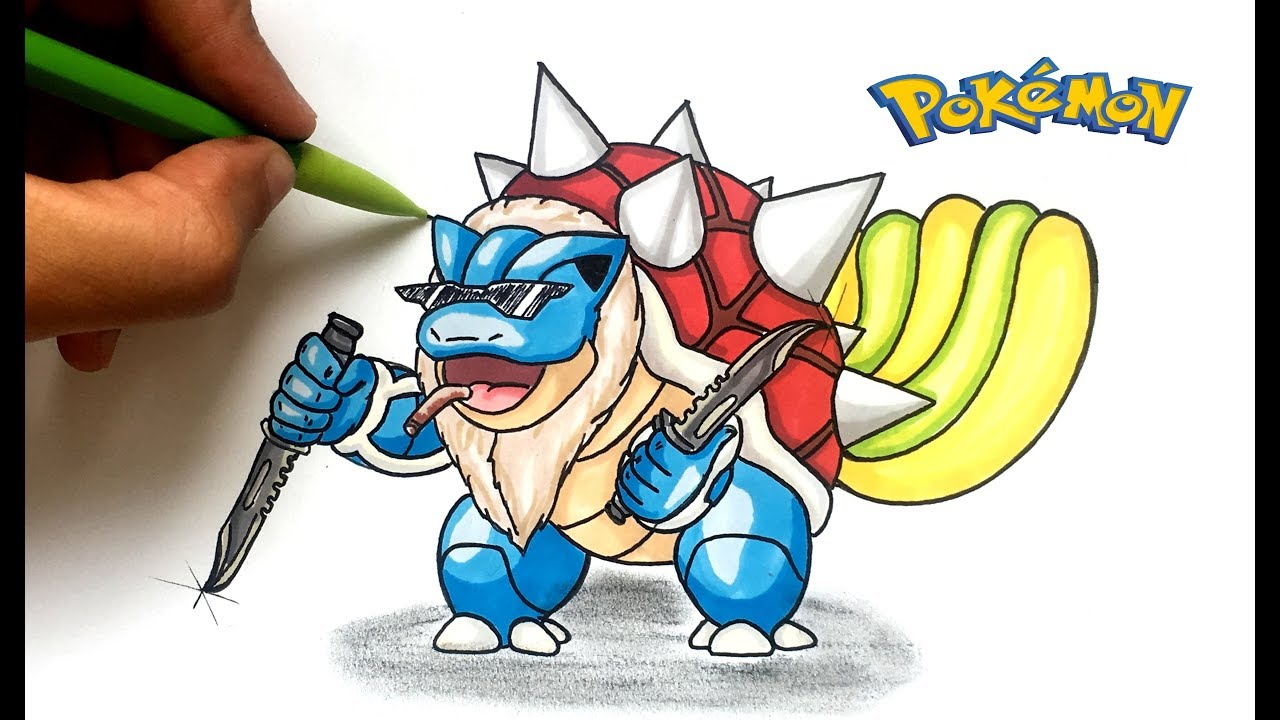 Dessin tortank remix pok mon youtube - Dessin facile de pokemon ...