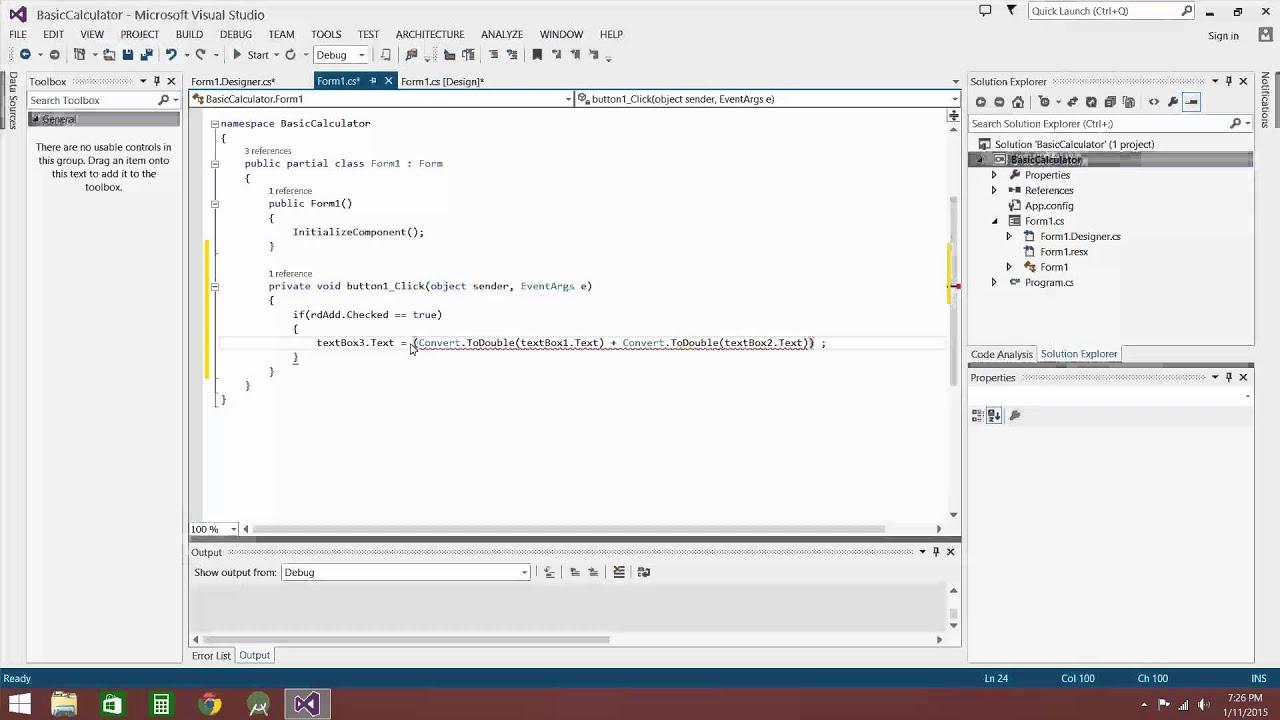 How To Make A Calculator Using C Windows Form Application