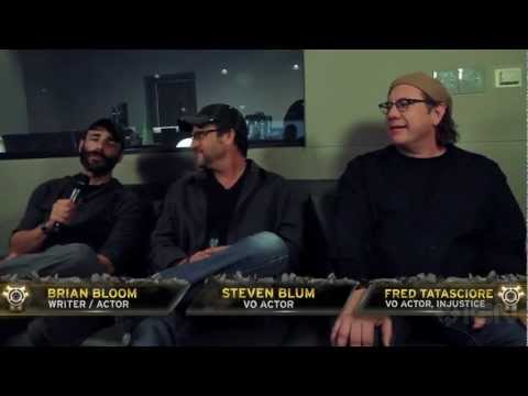 Injustice Battle Arena Celebrity Experts Brian Bloom, Steven Blum, and Fred Tatasciore