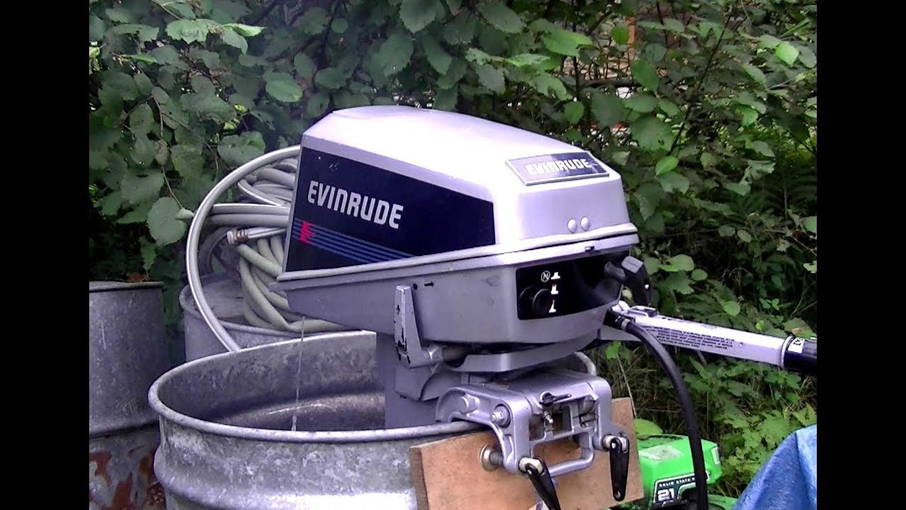 8HP Evinrude Start Up & Overview of Adjusting s - YouTube