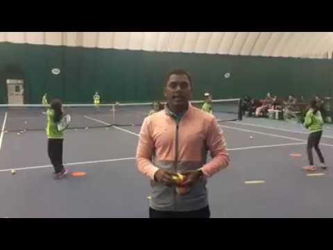TAMIL Tennis Training . (HOW TO IMPROVE BALL FOCUS )