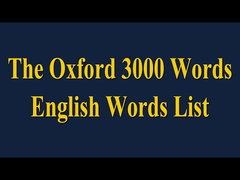 The Oxford 3000 Words - English Words List - Learn English