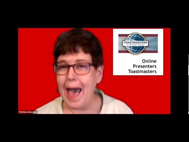 May 25, 2020 Replay - Online Presenters Toastmasters