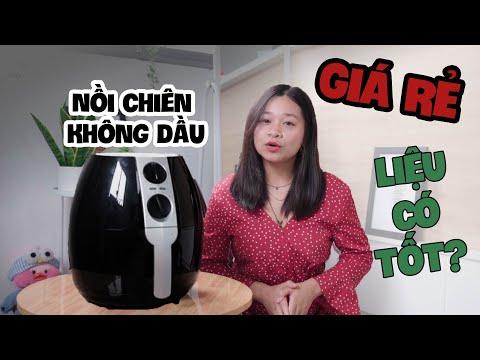 Nồi chiên không dầu GIÁ RẺ 700K liệu có TỐT???   Review Oil-free Fryer  Vlog #4