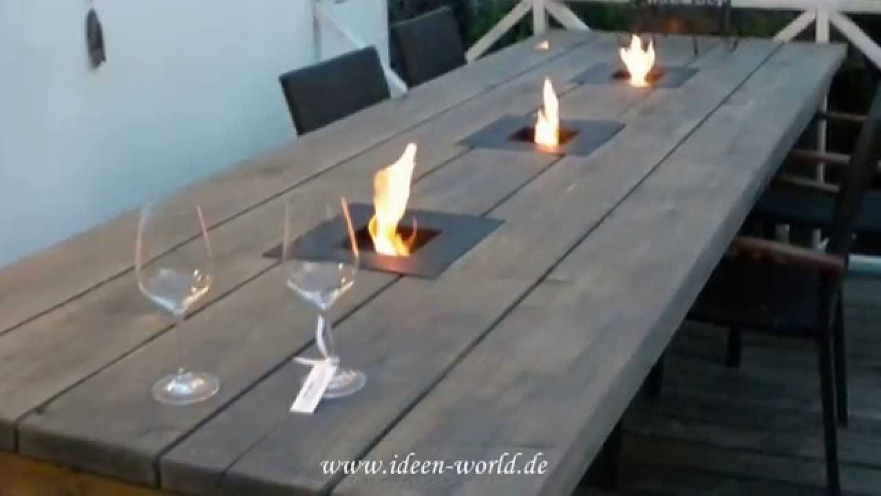 ideen world gartentisch youtube. Black Bedroom Furniture Sets. Home Design Ideas