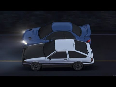 Initial D - AE86 Vs Impreza [Initial D: Fourth Stage]