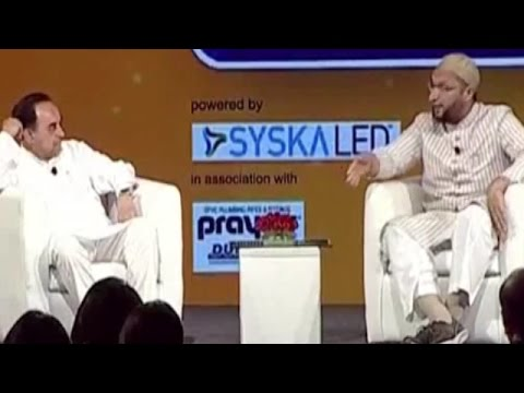 IndiaTV Samvaad: Subramanian Swamy vs Asaduddin Owaisi at In
