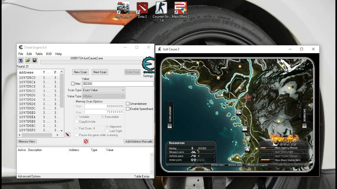 how to put cheats on just cause 2 ps3