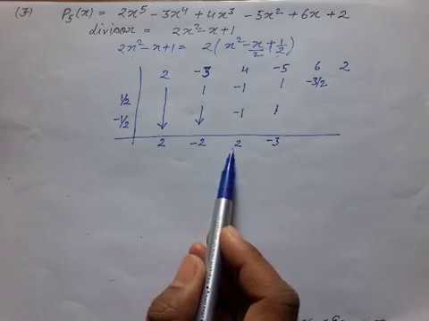 Problems on Synthetic Division | Hornor's Scheme |Examples |Exercise @mathematics portal