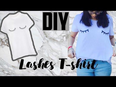 DIY ❤️LASHES T-SHIRT❤️- HEY