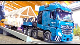 INCREDIBLE RC TRUCK COMPL. I SUPER RARE RC MODELS WITH PALFINGER CRANE I HEAVY HAULAGE RC TRUCK