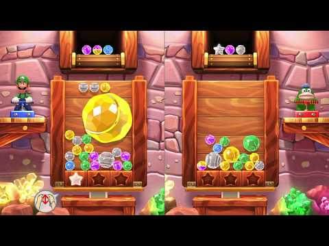 MARIO PARTY 10 ~ BONUS GAMES ~ JEWEL DROP ~ LUIGI VS. SPIKE ~ AS LUIGI