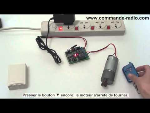 kit commande radio contr leur moteur lectrique cc 09 v 12v 24v 3 modes de contr ler 3 canaux. Black Bedroom Furniture Sets. Home Design Ideas