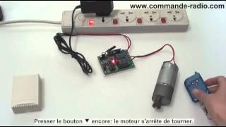 Kit Commande Radio Contrôleur Moteur Électrique CC 09 V 12V 24V 3 Modes de contrôler 3 Canaux