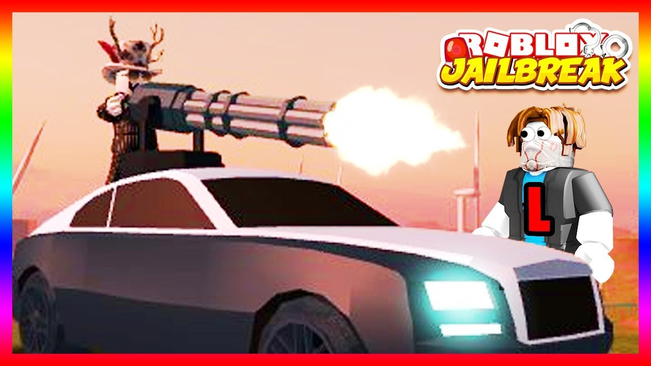 NEW MINIGUN UPDATE in Roblox Jailbreak! ROLLS ROYCE WRAITH NEW CAR + CRIME  BOSS GAMEPASS!