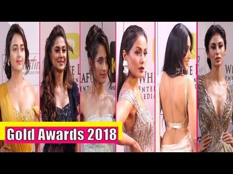 Gold Awards 2018 Hina Khan, Mouni Roy, Drashti Dhami On The Red Carpet thumbnail