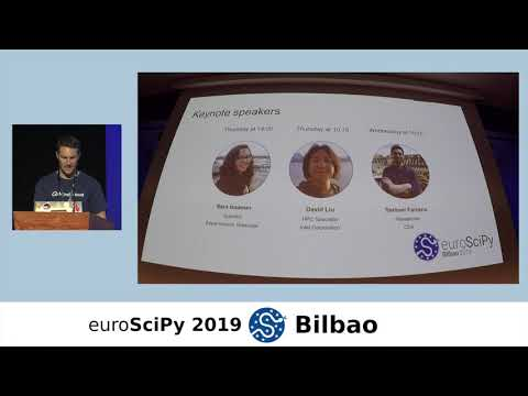 Image from EuroSciPy 2019 Bilbao - Welcome talk