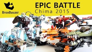 Epic Battle with all CHIMA 2015 sets!!!