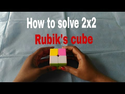 How to solve 2x2 Rubik's Cube..Easiest method to solve..
