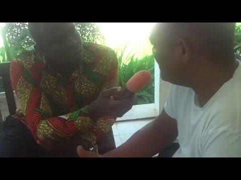 Ivor Greenstreet being interviewed by Class FM, Accra.