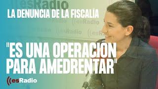 Rocío Monasterio habla sobre la denuncia de la Fiscalía en su contra