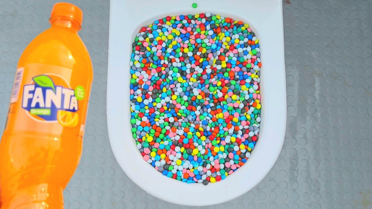 New experience tests: will it flush M&M's and fanta
