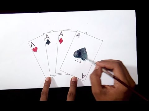 How To Draw Playing Cards Youtube