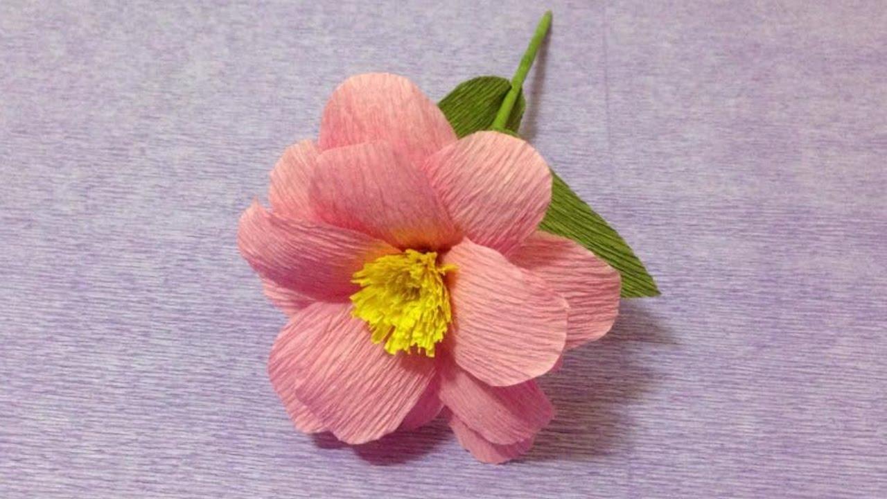 How to make pink crepe paper flowers flower making of crepe paper how to make pink crepe paper flowers flower making of crepe paper paper flower tutorial mightylinksfo