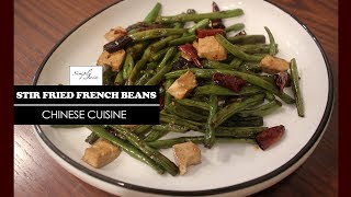 Stir Fried French Beans With Tofu | How To Make Chinese Starter | Chinese Cuisine | Simply Jain