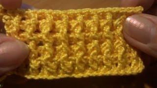 Рельефная резинка 1х1 крючком Вязание крючком Урок 17