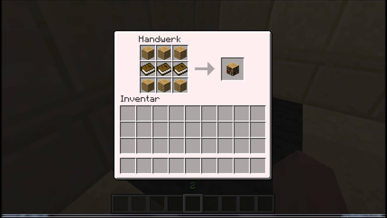 Minecraft Bucherregal Craften Youtube