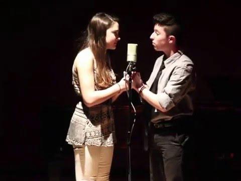 Maya Kharem and Zane Walden performing All I Ask of You