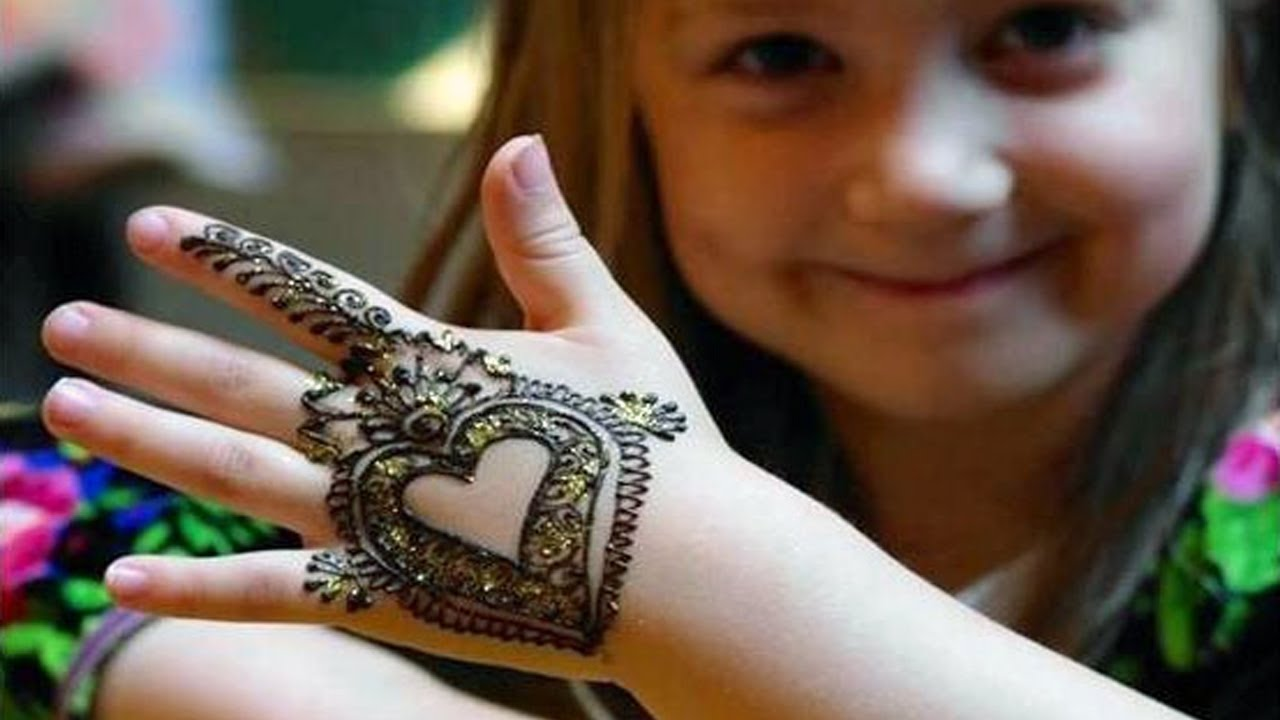 mehandi design for girl child