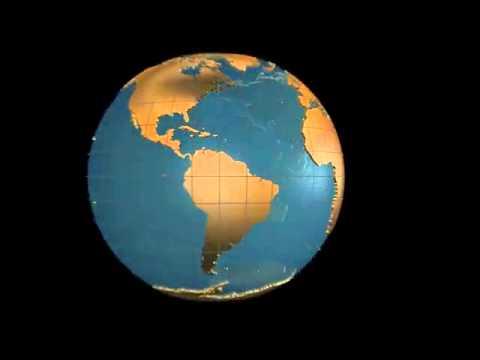 3d folding globe animation youtube