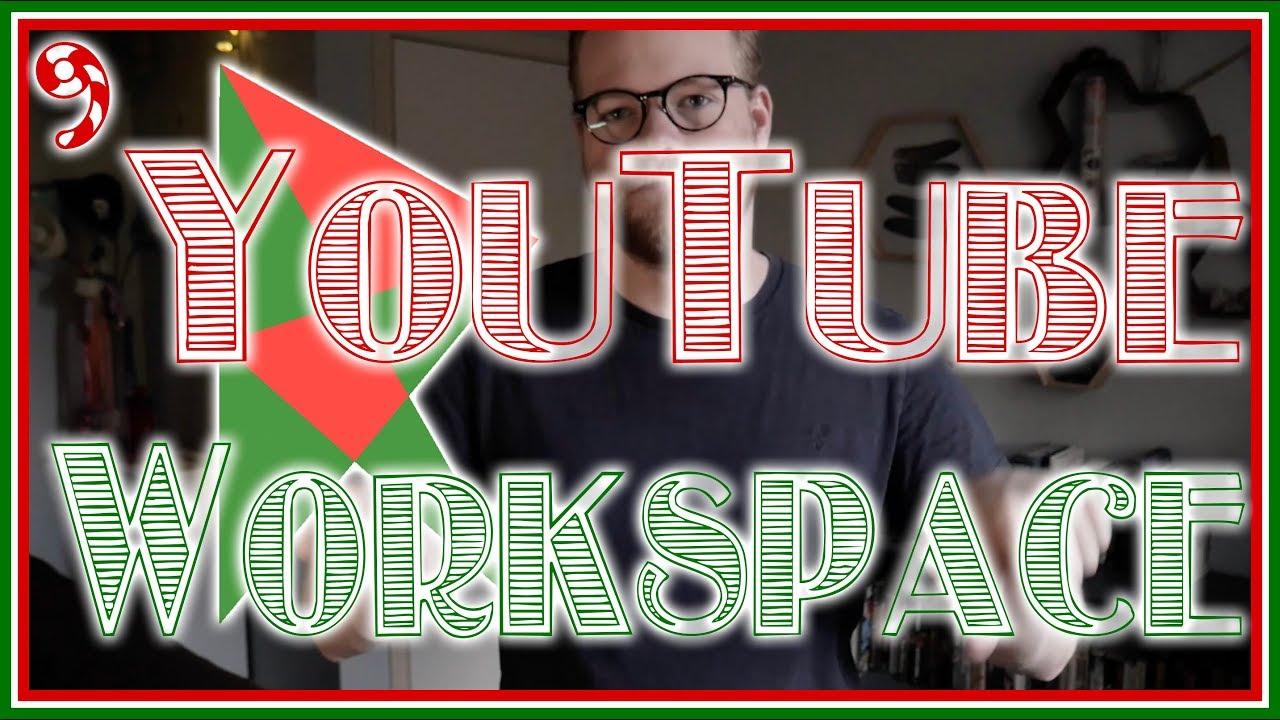 My Youtube Workspace Vlogmas Day 9 Youtube