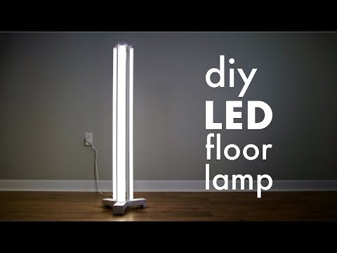 How To Make A DIY Smart LED Floor Lamp // Limited Tools Build