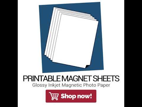 graphic about Printable Magnetic Paper identify Shiny Printable Magnetic Sheets