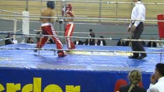 Kırmızı Köşe Cebrail Gençoğlu 54 kg Kickboks İzmir Yarı Final Nakavt