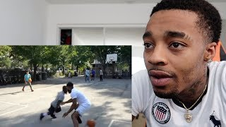 REACTING TO CASHNASTY GETTING MAN HANDLED BY A MIDGET STREETBALLER!💀