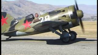 Polikarpov I-16 No. 28 at Wanaka New Zealand.